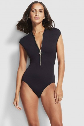 Zip Front Maillot Seafolly