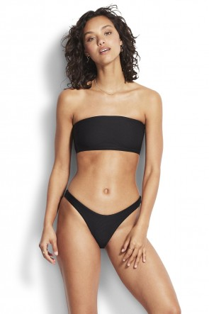 Essentials Tube Bandeau Bikini Set Seafolly Black
