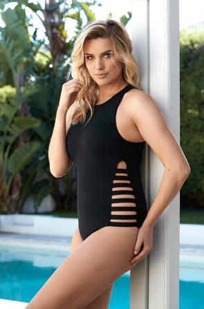 Active  Multi Strap High Neck One Piece