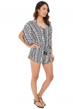 City Limits Playsuit Black-White SEAFOLLY