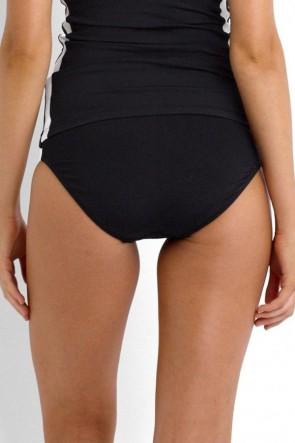 Block Party Spliced Hipster Bikini Pant- Black