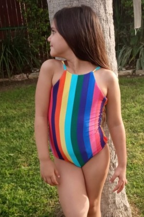 Rainbow Crush Tank One Piece by Seafolly Kids