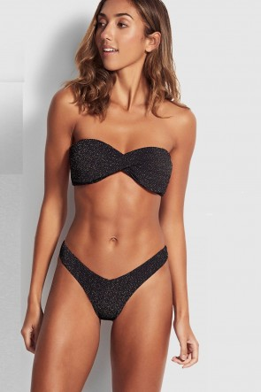 Stardust Twist Bandeau V High Cut Rio Bikini Set