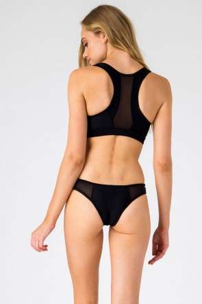 RACER BACK SPORT TOP With MESH SPORTS BOTTOM BLACK