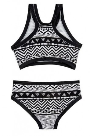 Jungle GeoTankini Seafolly Black/White