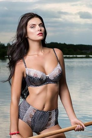 Verginie half-padded bra Anthracite