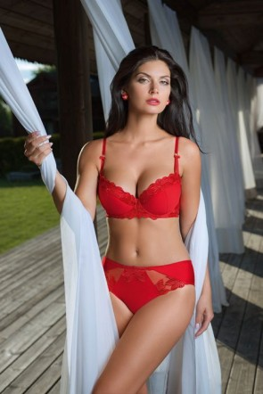 Ooh La Love push-up bra Red