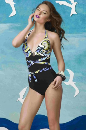 """Sea Breeze"" one-piece swimsuit Black VV44575"