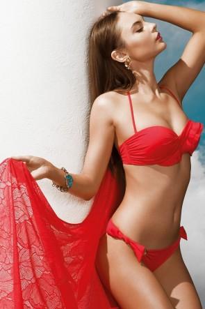 Charm Bandoe Push-Up Bikini Set Red