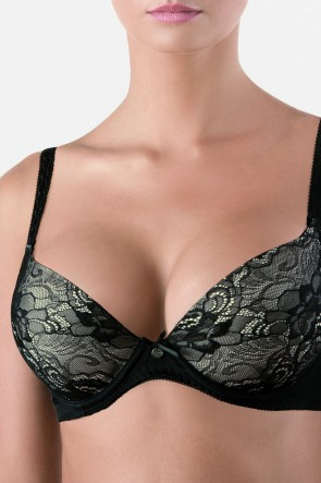 Aphelia Bra Black with moulded gel-filled push-up cups