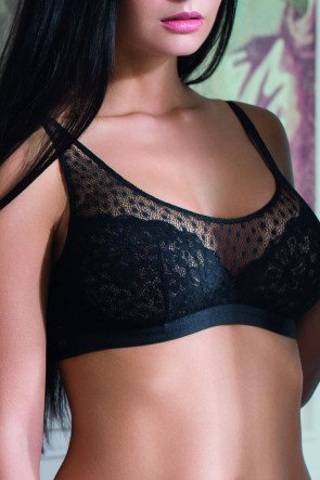 Wish Bra Bralette bra with inner frames Black