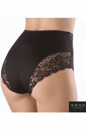 Wish -Bra with soft cups and lateral support with Panties with a high waistline Black