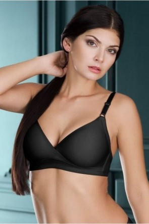 Victoria Frameless Moulded Minimizer Bra Black