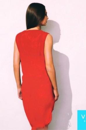 Charm Beach Dress Red