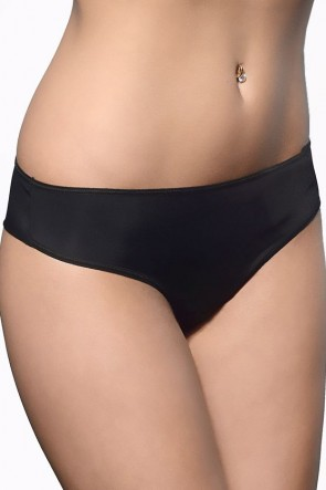 Victoria Smooth briefs with a medium waistline Black