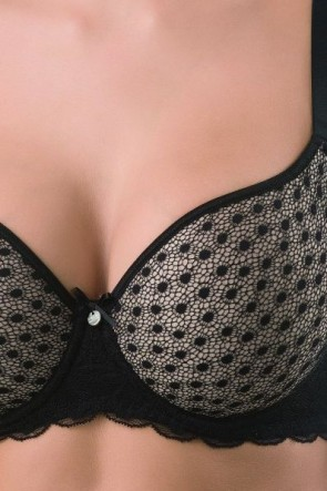 Wish Framed bra with moulded spacer cups Black