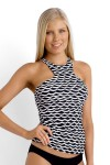Tidal Wave High Neck Singlet Tankini-SEAFOLLY