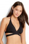 Active Swim Halter Bikini Top Black