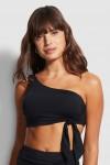 Active One Shoulder Bandeau Bikini Top