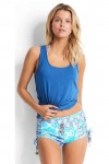 Set Essentials Air Singlet Top Denim with Short Seafolly