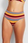 Baja Stripe Wide Side Retro Bikini Pants