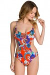 Field Trip Cut-Out One Piece Maillot Tangelo Seafolly