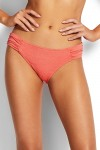 Stardust Ruched Side Retro Bikini Pants Antique Coral