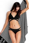 Active Swim Halter Top with Split Band Hipster Pant