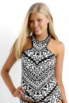 Kasbah High Neck Singlet Tankini Top
