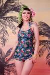 Romises Jungle Balcony Skirted One Piece Swimsuit