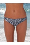 CARBON SNAKE - ROUCHED BIKINI BOTTOMS