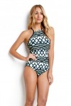 Modern Tribe DD High Neck Maillot One Piece BLUESTEEL Seafolly