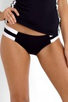 Block Party Spliced Hipster Bikini Pant- Black