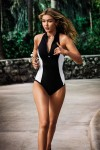 Block Party High Neck Maillot Seafolly