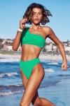 Sea Dive Shoulder Bandeau Hi Rise Bikini Set