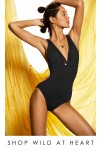 Wild at Heart V Neck One Piece Seafolly Black